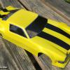 "A McAllister Camaro airbrushed to look like ""BumbleBee"" from the Transformers movie.  This is Faskolor's metallic yellow.  Awesome color paint!  I did this for a local racer who will use it for Vintage Trans Am racing."