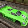 This is a McAllister Riley Daytona Prototype body.  Now off the USGT approved list, but its still ok to run at my local track.  I made this one for ME and it will go on my Team Associated TC6.