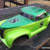 ASCOT Modified body from McAllister Racing.  I love this vintage look and plan to put this on my own Traxxas Slash.  Createx metallic green and lime green.