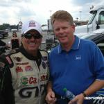 "Getting to meet one of my heroes, John Force.  I can take that one off my ""Life's To-Do List"" now.  What a great day!"
