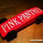 "The ""Pink Panther"" was created by my oldest daughter and myself.  It is really, really fast!  It is actually an airfoil, but it looked better cutting through the air backwards!"