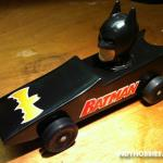 "Every Pinewood Derby has usually got some sort of ""BATMOBILE"" in it.  This was my take on it.  I got the head from a kids shampoo bottle.  Not very fast.!  This was created for the Brownsburg Motorsports Celebration Pinewood Derby.  You can find more information on this great event at www.Brownsb"