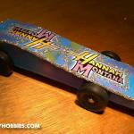 Yes, its a Hanna Montana car!  How else was I going to get my daughter excited about the Derby?  :)