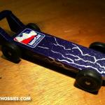 It was FAST!  This was created for the Brownsburg Motorsports Celebration Pinewood Derby.  You can find more information on this great event at www.BrownsburgRacing.com.